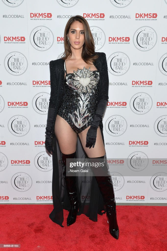 Model Carmen Carrera attends the 2017 DKMS Blood Ball at Spring Place on October 26, 2017 in New York City.
