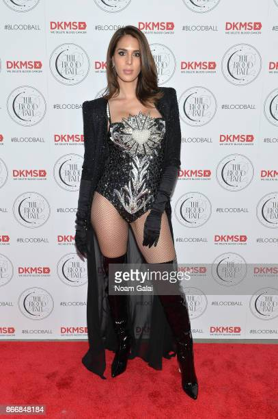 Model Carmen Carrera attends the 2017 DKMS Blood Ball at Spring Place on October 26 2017 in New York City