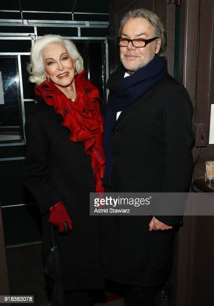 0594495b677b4f Model Carmen Dell'Orefice and artist David Downton attend Michael Kors  celebration for David Downton. Editorial use only