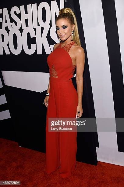 Model Carmen Electra attends Fashion Rocks 2014 presented by Three Lions Entertainment at the Barclays Center of Brooklyn on September 9 2014 in New...