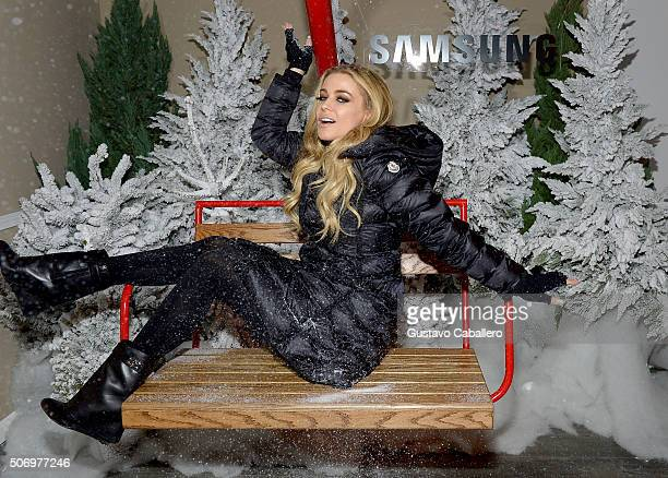 Model Carmen Electra attends The Samsung Studio at Sundance Festival 2016 on January 26 2016 in Park City Utah