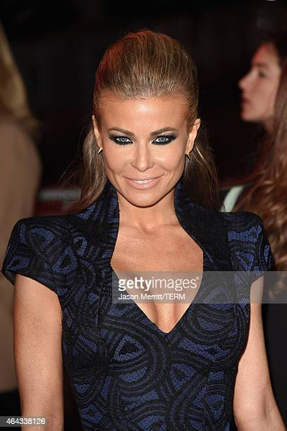 Model Carmen Electra attends the Warner Bros Pictures' Focus premiere at TCL Chinese Theatre on February 24 2015 in Hollywood California