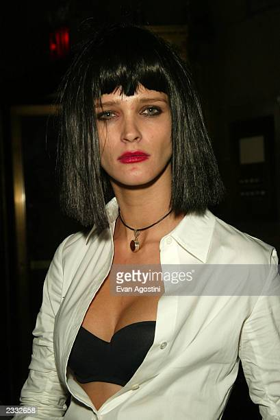 Model Carmen Kass at Dolce Gabbana's Halloween Party at Cipriani 42nd Street in New York City October 31 2002 Photo by Evan Agostini/ImageDirect