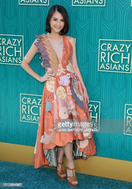 Model Carmen Soo attends the premiere of Warner Bros Pictures' 'Crazy Rich Asians' in Hollywood California on August 7 2018
