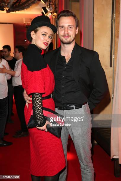 Model Caro Cult and her husband Matthias Wackrow during the New Faces Award Style 2017 at 'The Grand' hotel on November 15 2017 in Berlin Germany