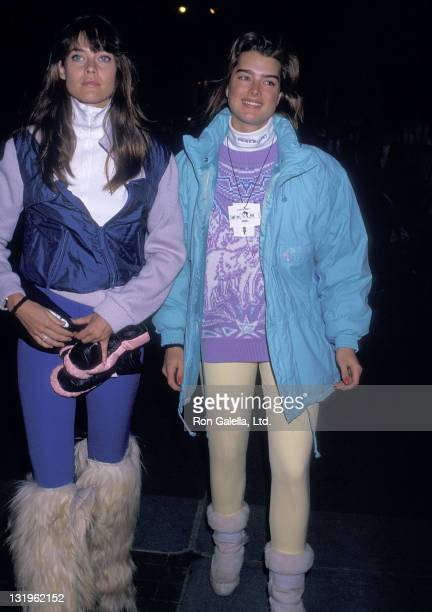 Model Carol Alt and actress Brooke Shields attend the Second Annual Pepsi Celebrity Ski Invitational and Quebec Winter Carnival Weekend on February 5...