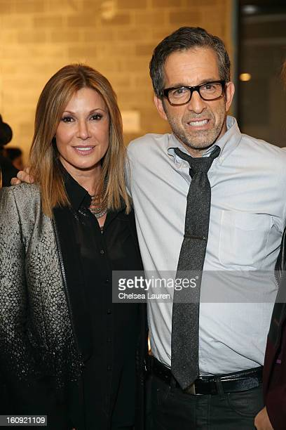 Model Carol Alt and designer Kenneth Cole backstage at the Kenneth Cole Collection Fall 2013 fashion show during MercedesBenz Fashion Week at 537...