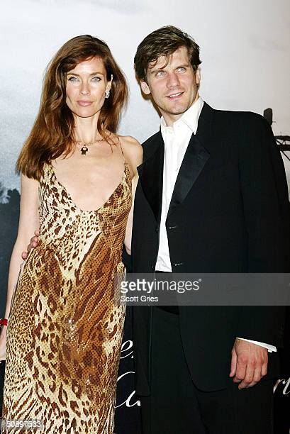 Model Carol Alt and husband New York Islander center Alexei Yashin arrive at Santos Night the 100 Year Anniversary of the Cartier Santos Watch at The...