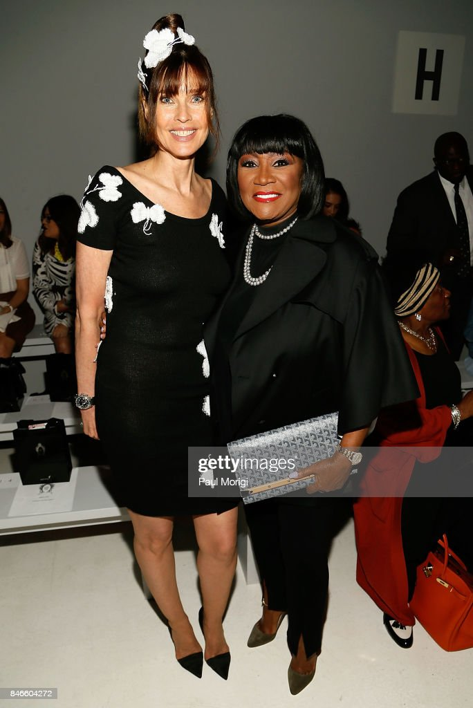 Model Carol Alt (L) and singer Patti LaBelle attend the Zang Toi fashion show during New York Fashion Week: The Shows at Gallery 3, Skylight Clarkson Sq on September 13, 2017 in New York City.