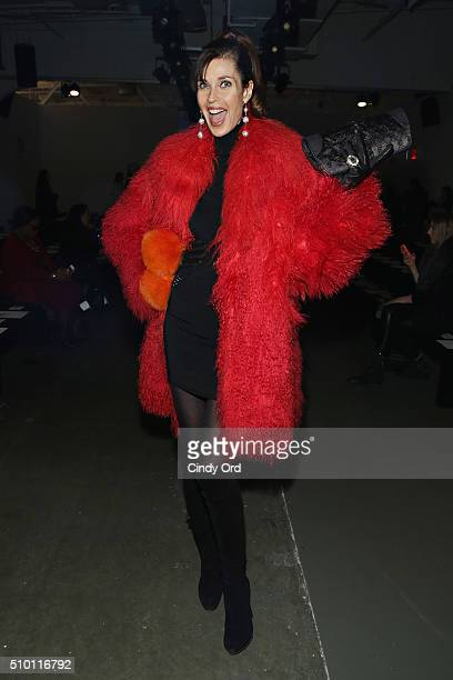 Model Carol Alt attend the Zang Toi fashion show during Fall 2016 New York Fashion Week The Shows at Pier 59 Studios on February 13 2016 in New York...
