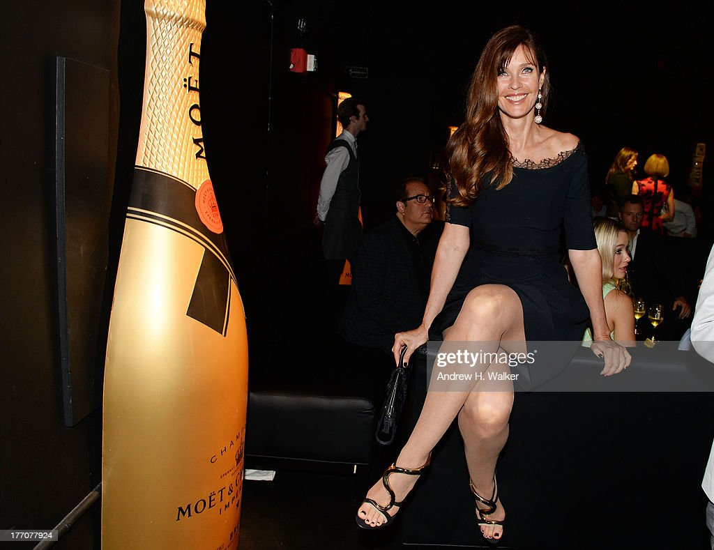Model Carol Alt attends Moet & Chandon Celebrates Its 270th Anniversary With New Global Brand Ambassador, International Tennis Champion, Roger Federer at Chelsea Piers Sports Center on August 20, 2013 in New York City.