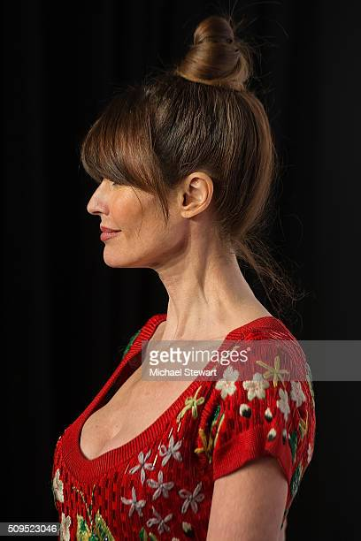 Model Carol Alt attends the 2016 amfAR New York Gala at Cipriani Wall Street on February 10 2016 in New York City