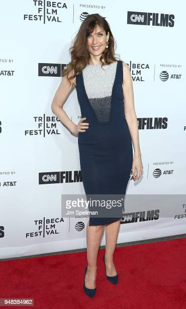 Model Carol Alt attends the 2018 Tribeca Film Festival opening night premiere of Love Gilda at Beacon Theatre on April 18 2018 in New York City