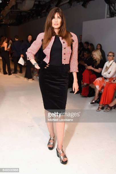 Model Carol Alt attends the Chocheng fashion show during New York Fashion Week The Shows at Gallery 3 Skylight Clarkson Sq on September 13 2017 in...