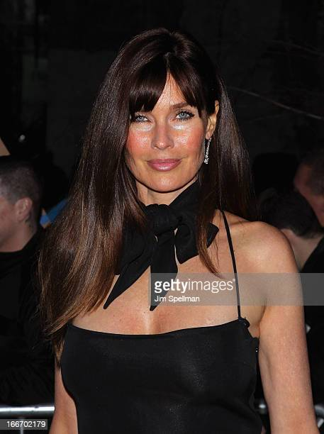 Model Carol Alt attends The Cinema Society and Men's Fitness screening of Pain and Gain at Crosby Street Hotel on April 15 2013 in New York City