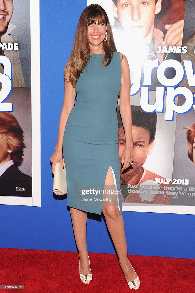 Model Carol Alt attends the 'Grown Ups 2' New York Premiere at AMC Lincoln Square Theater on July 10, 2013 in New York City.