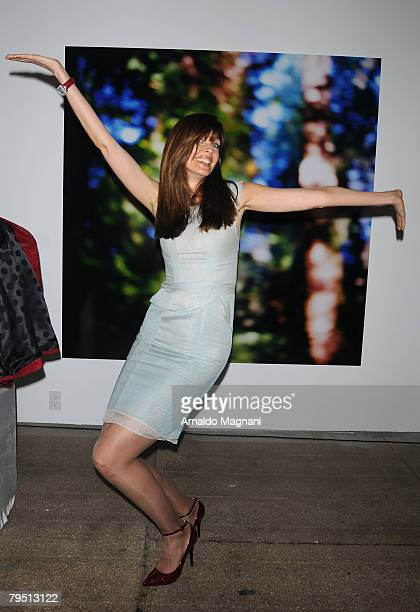 Model Carol Alt attends the Luca Luca show at MercedesBenz Fashion Week Fall 2008 at Bryant Park February 4 2008 in New York City
