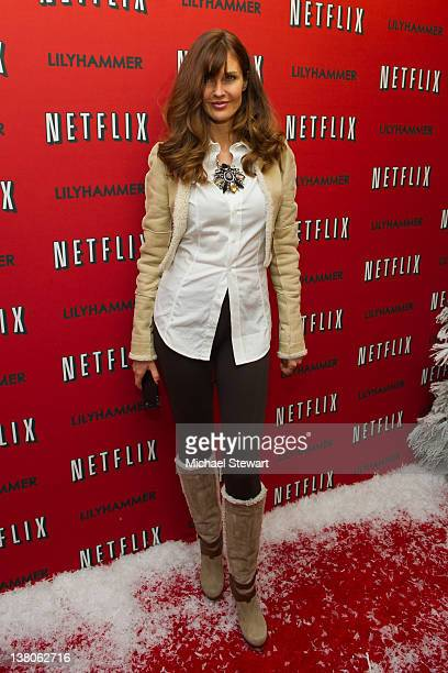 Model Carol Alt attends the premiere of Lilyhammer at the Crosby Street Hotel on February 1 2012 in New York City