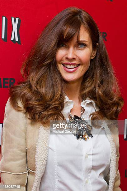 Model Carol Alt attends the premiere of Netflix Lilyhammer at the Crosby Street Hotel on February 1 2012 in New York City