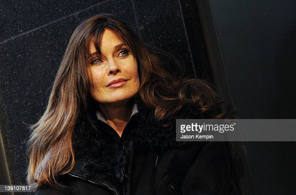 Model Carol Alt attends the Stephen Burrows fall 2012 fashion show during MercedesBenz Fashion Week at the Audi Forum on February 16 2012 in New York...
