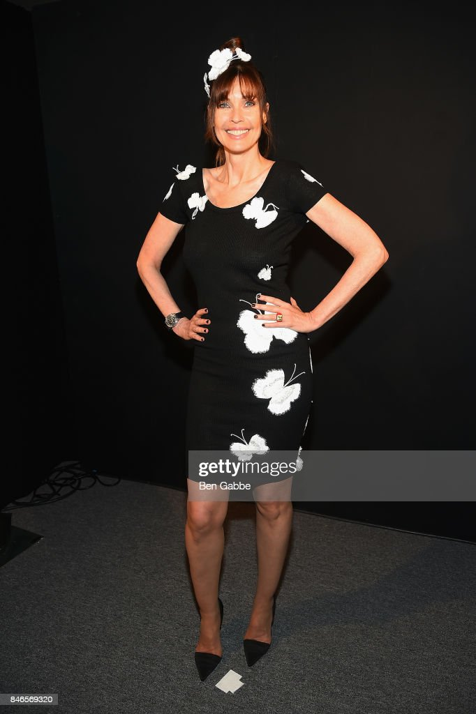 Model Carol Alt attends the Zang Toi fashion show during New York Fashion Week: The Shows at Gallery 3, Skylight Clarkson Sq on September 13, 2017 in New York City.
