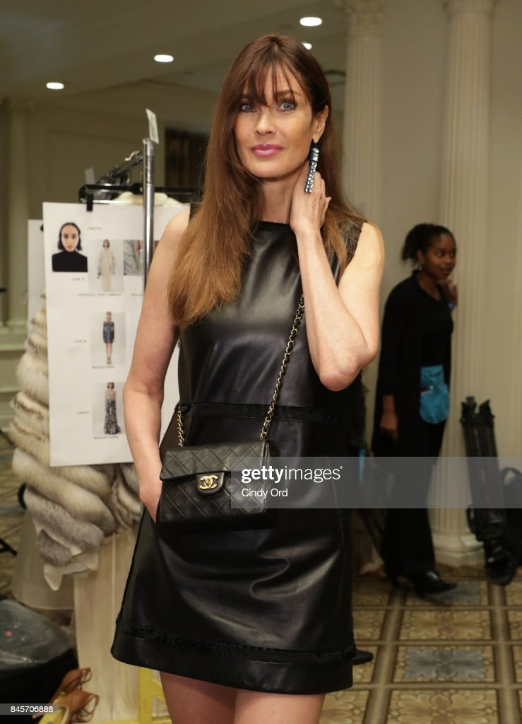 Model Carol Alt backstage at Dennis Basso fashion show during New York Fashion Week: The Shows at The Plaza Hotel on September 11, 2017 in New York City.