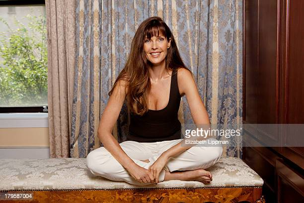 Model Carol Alt is photographed for New York Post on August 12 2013 in New York City