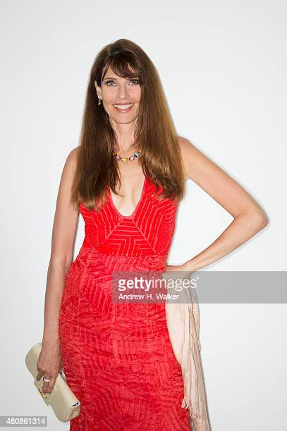 Model Carol Alt poses for a portrait at the 2015 amfAR Inspiration Gala New York at Spring Studios on June 16 2015 in New York City