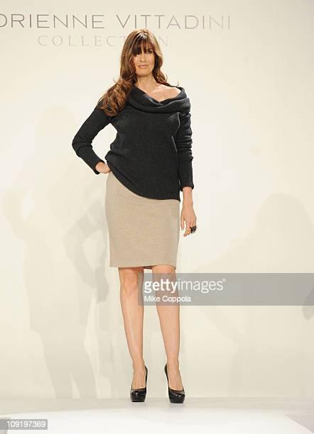Model Carol Alt walks the runway during the Vittadini Fall 2011 presentation during MercedesBenz Fashion Week at The Box at Lincoln Center on...
