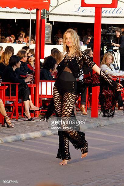 model Carolina Kurkova walks the runway at the Chanel Cruise Collection Presentation on May 11 2010 in SaintTropez France