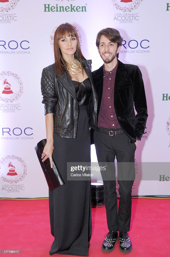 Model Carolina Rodriguez and pop musician Esteman attend the Latin GRAMMY Acoustic Session at Country Club de Bogota on August 21, 2013 in Bogota, Colombia.