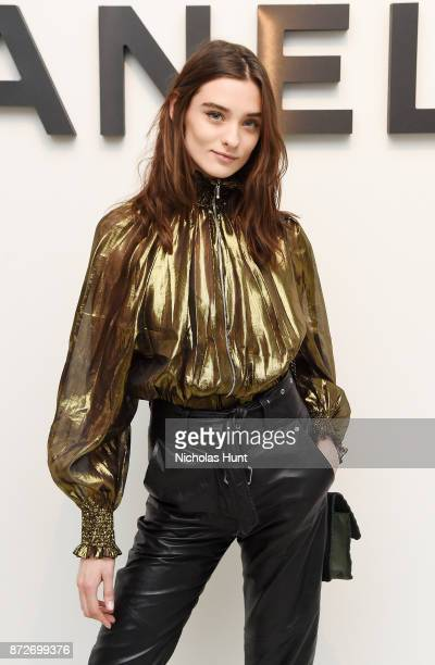 Model Carolina Thaler attends as CHANEL celebrates the launch of the Coco Club a BoyFriend Watch event at The Wing Soho on November 10 2017 in New...