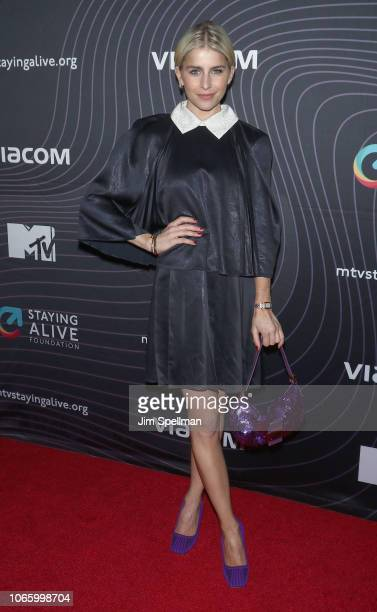 Model Caroline Daur attends the MTV Staying Alive Foundation 20th Anniversary gala at Gustavino's on November 27 2018 in New York City