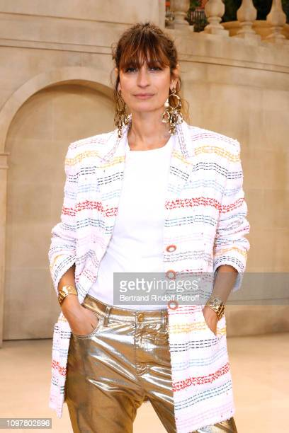 Model Caroline de Maigret attends the Chanel Haute Couture Spring Summer 2019 show as part of Paris Fashion Week on January 22 2019 in Paris France