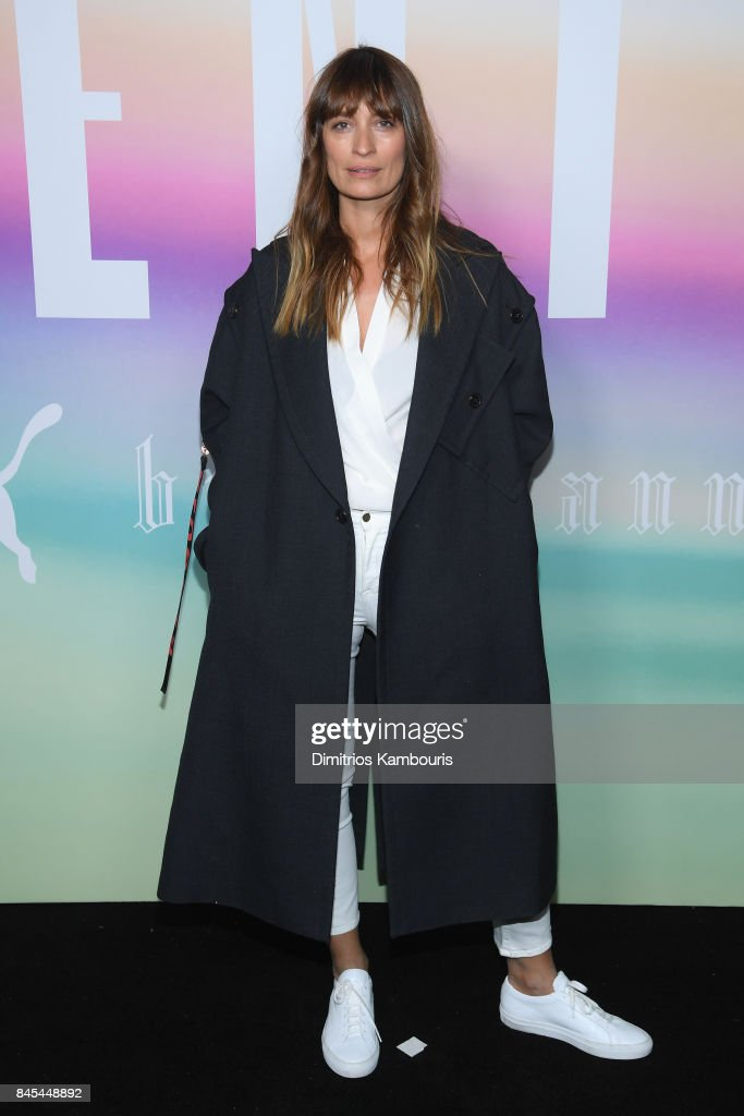 Model Caroline de Maigret attends the FENTY PUMA by Rihanna Spring/Summer 2018 Collection at Park Avenue Armory on September 10, 2017 in New York City.