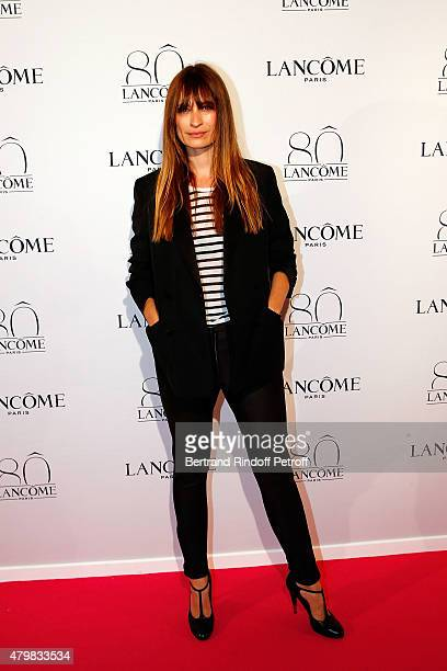 Model Caroline de Maigret attends the Lancome 80th Anniversary Party as part of Paris Fashion Week Haute Couture Fall/Winter 2015/2016 on July 7 2015...