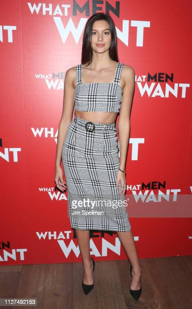 Model Caroline Gill attends the special screening Of What Men Want hosted by Paramount Pictures at Crosby Street Hotel on February 04 2019 in New...