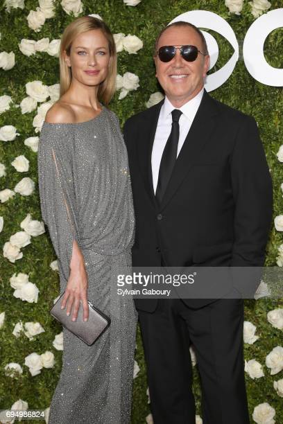 Model Caroline Murphy and designer Michael Kors attend the 2017 Tony Awards at Radio City Music Hall on June 11 2017 in New York City