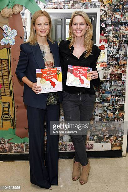 Model Carolyn Murphy and actress Stephanie March attend the 5th annual Jumpstart Read for the Record Day at the Education Alliance Preschool on...