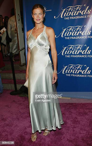 Model Carolyn Murphy attends the 32nd Annual Fragrance Foundation's FiFi Awards on June 9 2004 at the Hammerstein Ballroom in New York City