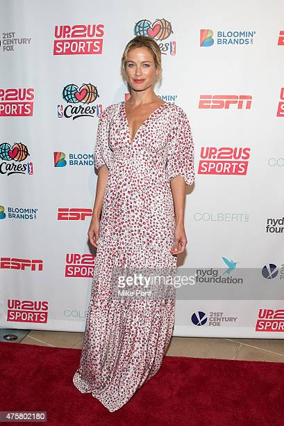 Model Carolyn Murphy attends the Up2Us Sports Gala at IAC Building on June 3, 2015 in New York City.