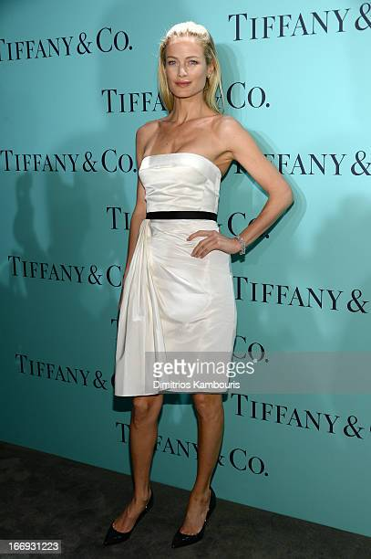 Model Carolyn Murphy is wearing Diamonds from the Tiffany Co 2013 Blue Book Collection as she attends the Tiffany Co Blue Book Ball at Rockefeller...