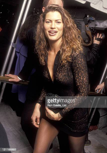 Model Carre Otis attends the 100th Anniversary Celebration of Vogue Magazine on April 2 1992 at the New York Public Library in New York City New York