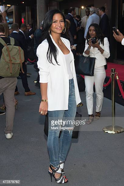 Model Cassie Ventura attends the 3AM Frangrance Launch at Macy's Herald Square on May 6 2015 in New York City