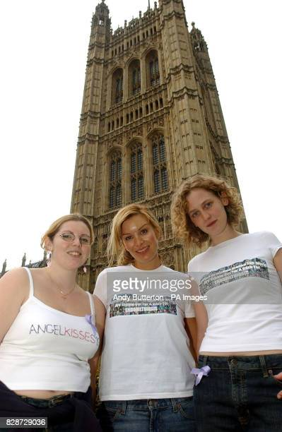 Model Catalina Guirado is joined by Endometriosis sufferers Catherine Dakin from London and Claire Pavey from Harrow to lobby MP's in support of UK's...