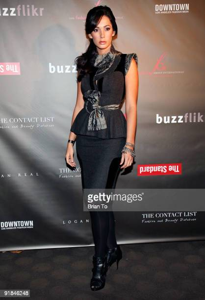 Model Catalina Lopez attends FGILA Hosts Downtown LA Fashion Week Kick Off Cocktail Party at The Standard Hotel on October 12 2009 in Los Angeles...