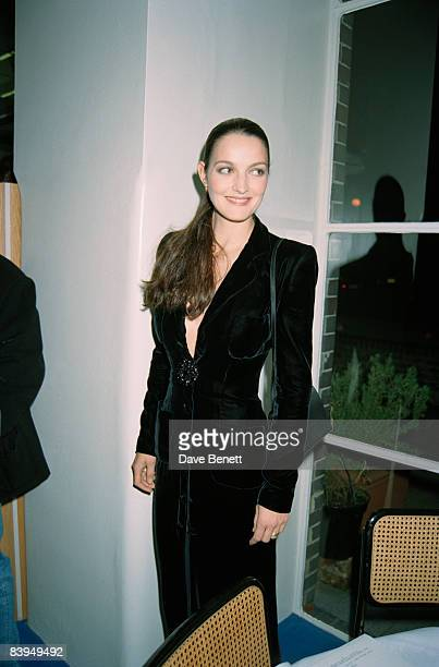 Model Catherine Dyer at a Vanity Fair party at the River Cafe London 20th November 1996 Dyer is married to photographer David Bailey