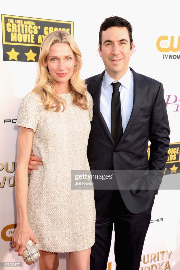 Model Catherine McCord and producer Jonathan Gordon attends the 19th Annual Critics' Choice Movie Awards at Barker Hangar on January 16, 2014 in Santa Monica, California.