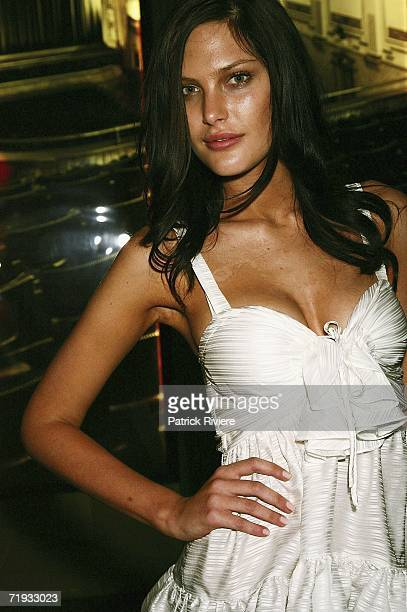 Model Catherine McNeil attends the Cosmopolitan Magazine screening of 'The Devil Wears Prada' at the Entertainment Quarter on September 19, 2006 in...