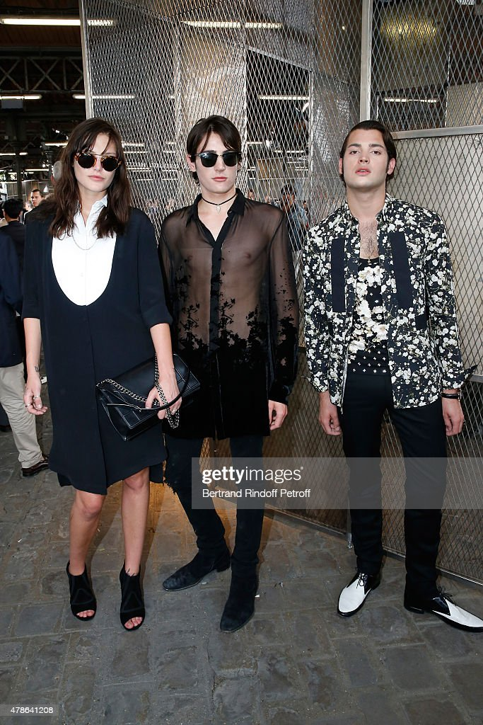 Model Catherine McNeil, Peter Brant and his Brother Harry Brant attend the Givenchy Menswear Spring/Summer 2016 show as part of Paris Fashion Week on June 26, 2015 in Paris, France.